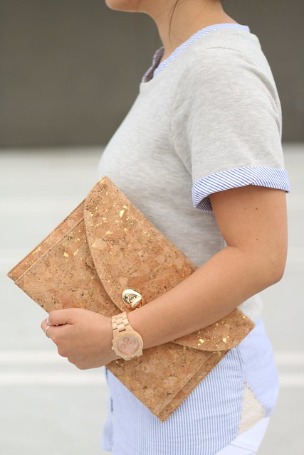 simplyxclassic, francescas, cork clutch, anthropologie, wood watch, jord watches, wihte jeans, dl1961, ootd, mommy blogger, style fashion blogger, orange county