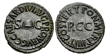 Caligula quadrans coin
