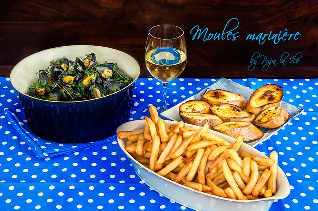 Moules marinière - Midii in sos de vin (9)