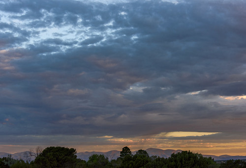 Santa Fe Sky (A Contemporary Landscape) by Geoff Livingston