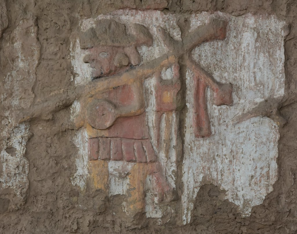Polychrome freize in Huaca de la Luna, Moche, about 1 - 800 CE; near Trujillo (39)