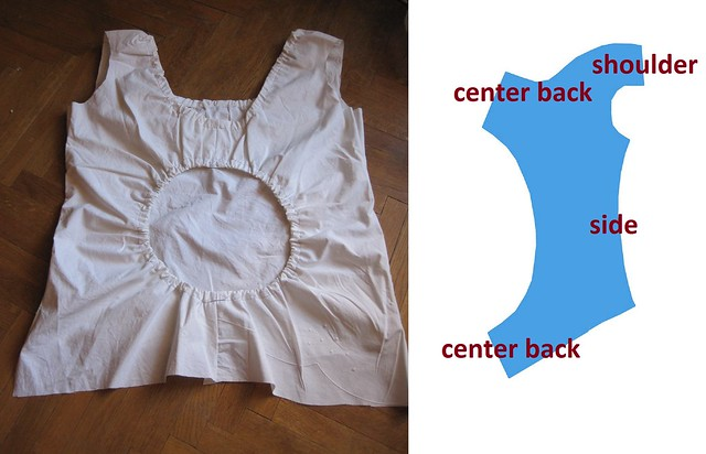 dress with gathered hole