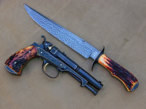 Beautiful 5″ .45 Caliber Muzzle Loader and Bowie Knife