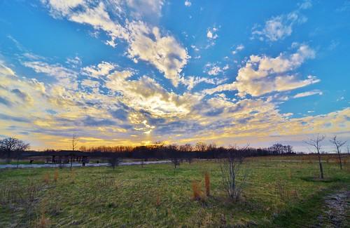 sunset clouds landscape illinois nikon wideangle lakecounty d90 stevelamb heroncreekforestpreserve tokina1116mmf24
