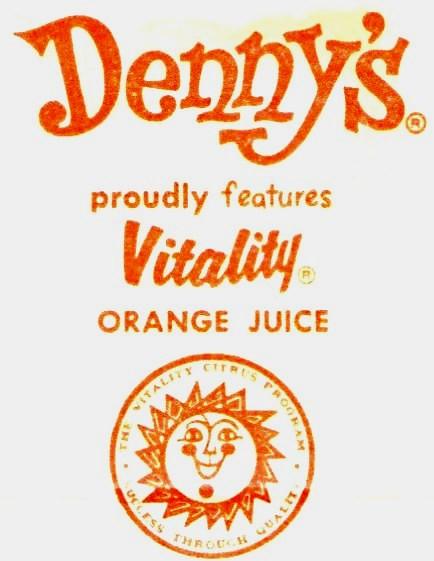 Denny's proudly features Vitality Orange Juice