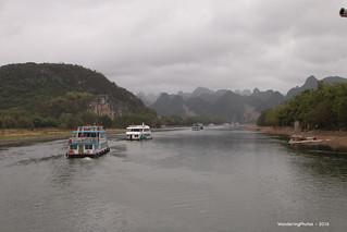 Heading down the Li River - Guilin Guangxi China