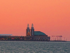 Navy Pier Golden Sunset