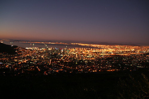 Nighttime over Cape Town