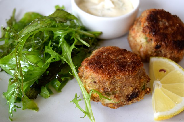 Fishcakes at The Boatyard, Isle of Man