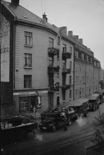 Bilkolonne i Mellomveien (1940)