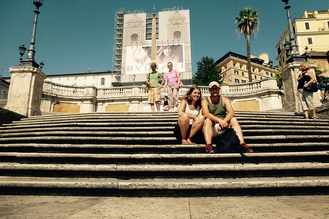 Relaxing on the Spanish Steps