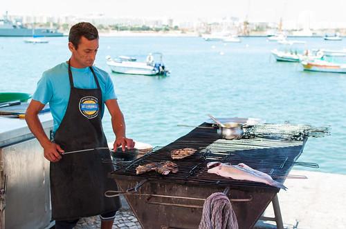 Restaurante Sueste, pescado a la parrilla a orillas del río Arade