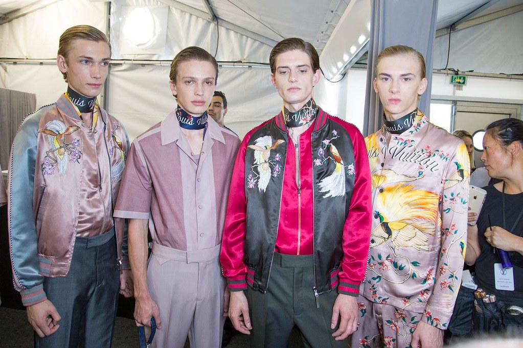 Dominik Sadoch3383_SS16 Paris Louis Vuitton_Truls Martinsson, Lucas Satherley, Gabriel Hengeveld(Harper's Bazaar Men TH)