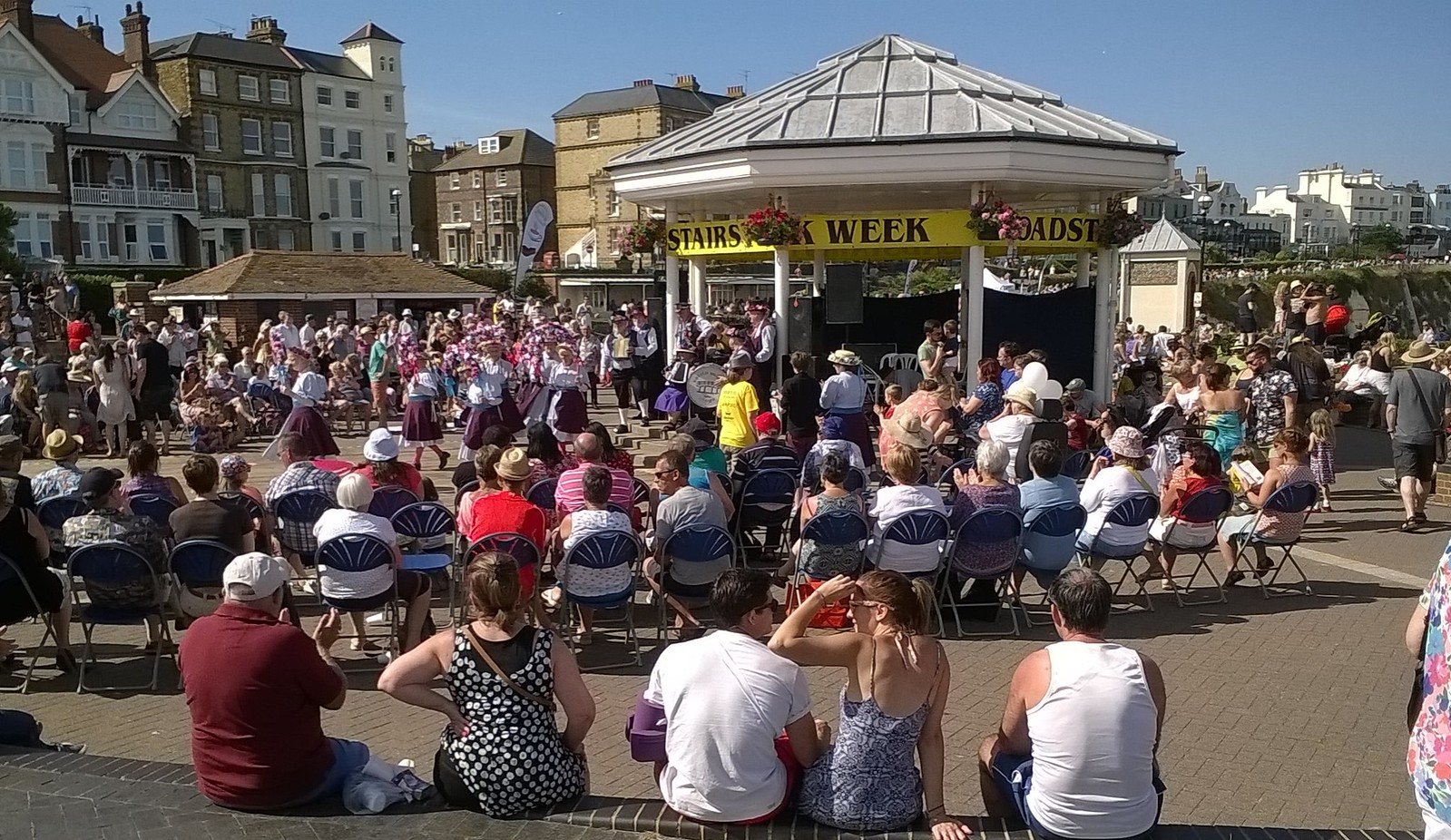 Bandstand life, Broadstairs Folk Festival All girl Morris dancers