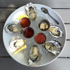 Early-bird lunch $1 #oysters? Yes, please! Glad I noticed this special during happy hour yesterday. Order by the half dozen, 11am-noon. Love my 'hood! #MountainView #food