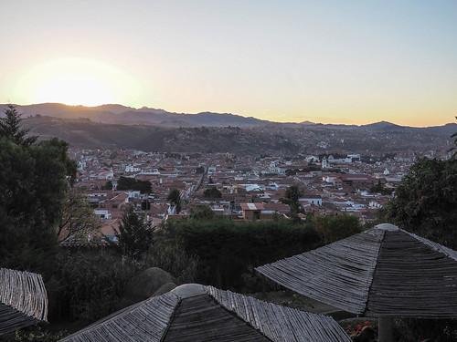 sunset cityscape bolivia sucre chuquisaca