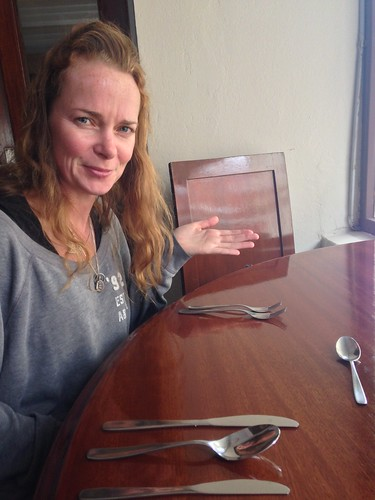 Enough Cutlery?  Great Set Menu lunch at Club Social.  Tarija, Bolivia.