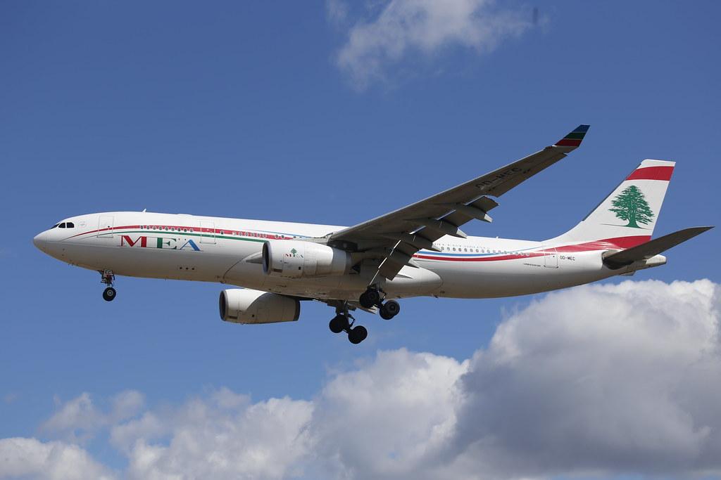 MEA Airbus A330-200 (OD-MEC) at LHR