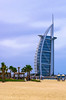 Burj Al Arab view. Another shot has been taken on a rainy day of May 10, 2015. 1pm.