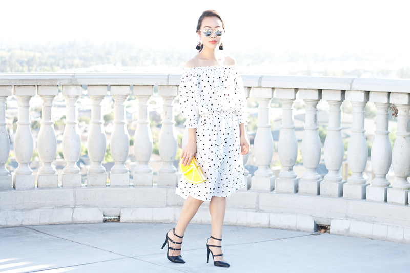 01-lemon-dots-off-shoulder-dress-sf-sanfrancisco-fashion-style