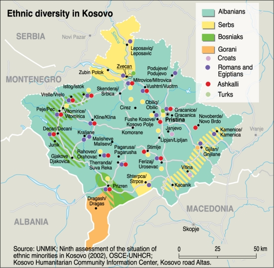 Ethnic diversity in Kosovo GRIDArendal