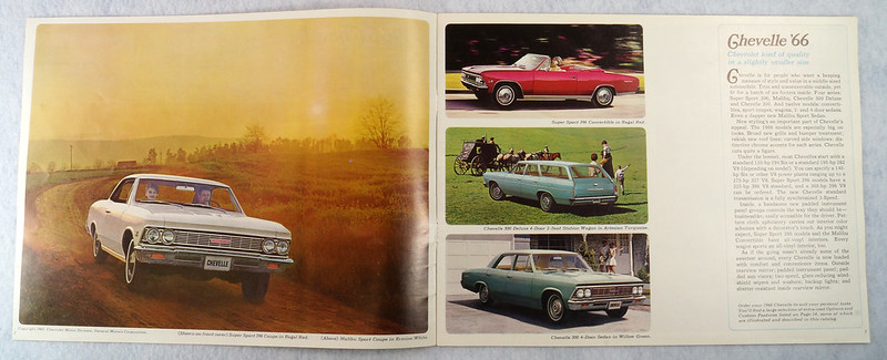 RD12674 1966 Chevy Chevrolet Chevelle Super Sport SS Malibu Brochure Catalog DSC08663