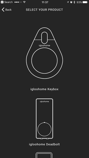 Igloohome iOS App - Select Your Product