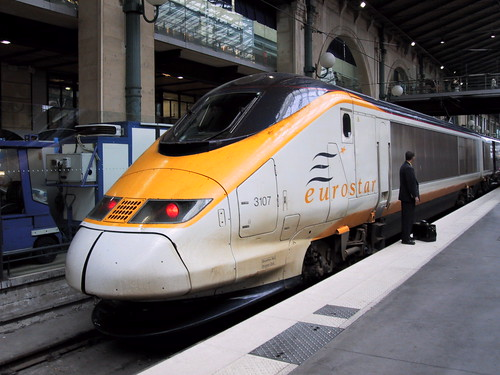 Eurostar train at Paris Gare du Nord