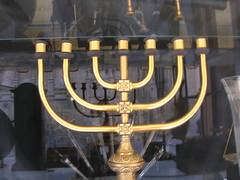menorah, candle holder, iron, lighting,