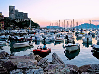 Lerici, evening boats