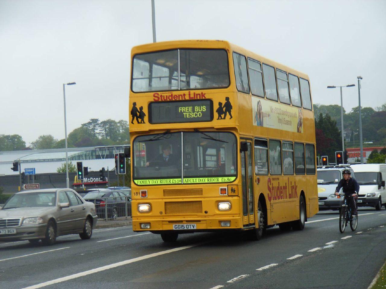 Plymouth Citybus 181 G615OTV