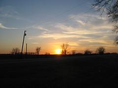 Sunset off FM 85