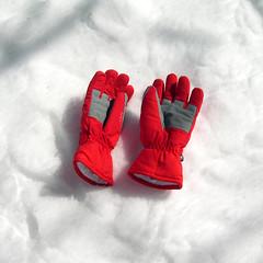 red, glove,