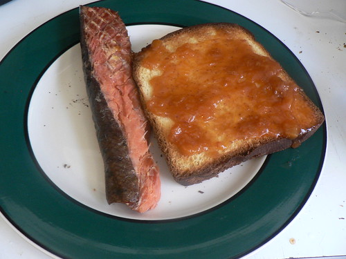 salmon candy and toast