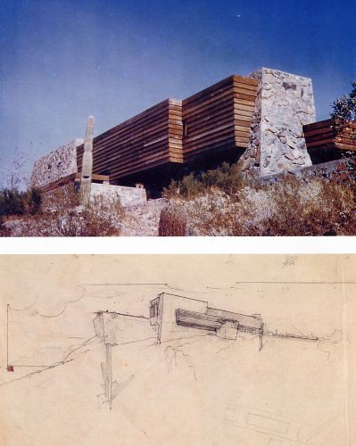 "Rose Pauson House, ""Shiprock"", Phoenix, Arizona 1939-42"
