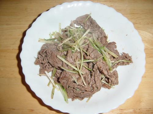 牛肉と水菜の炒め物