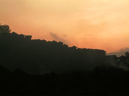 silhouette sunrise village miao sunup 剪影 黔东南 gettyimageschinaq1