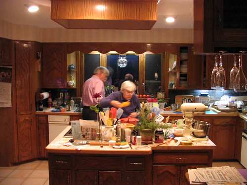 Bob and Muriel working on dinner