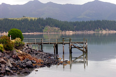 Old wharf, Charteris Bay, Canterbury, New Zealand, 1 December 2005