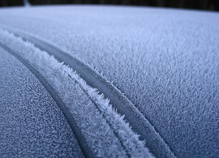 Hoar Frost On Car Roof