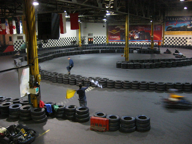 Go karting at circuit 500 in montreal flickr photo for Go kart interieur montreal