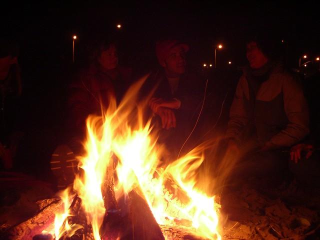 Ocean Beach Bonfire