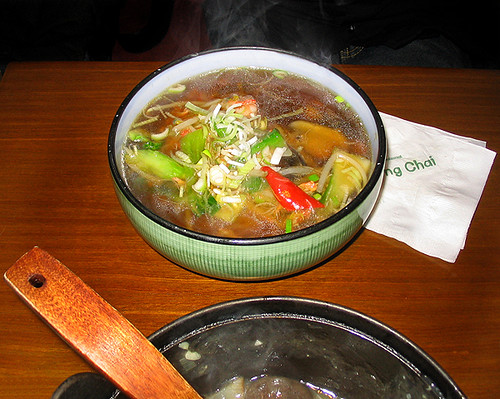 Steam From Soup ~ Ming chai gavin had this noodle soup aahh the steam