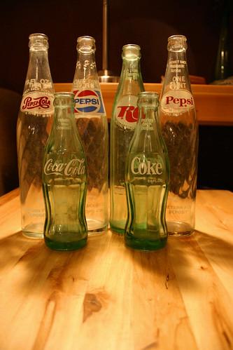 soda bottles