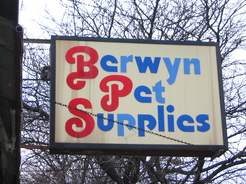 Berwyn Pet Supplies Sign