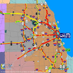 Chicago Traffic Map At 5 40 Pm On December 8 2005 Wow Th Flickr