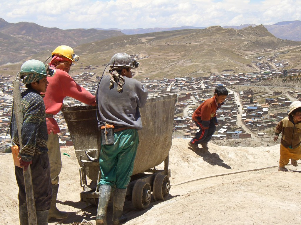 Bolivian miners