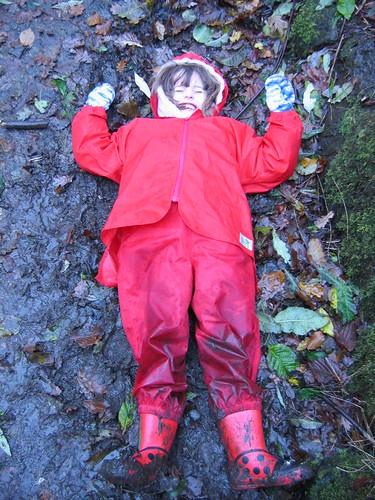 making mud angels - rofl!