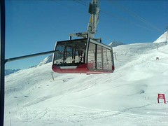 vehicle, piste, snow, cable car,