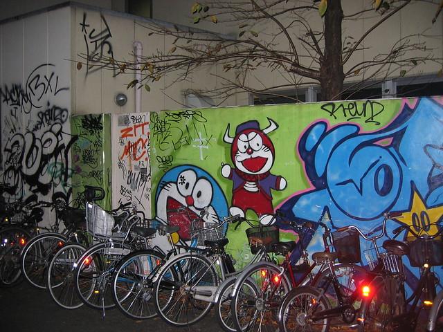 Doraemon Devil Graffiti In Tokyo